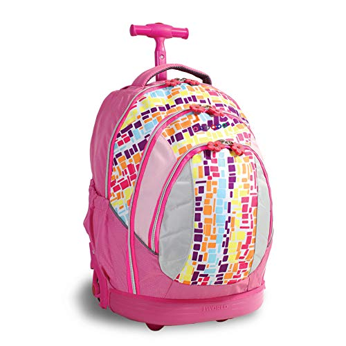 J World New York Sweet Kids Rolling Backpack (Kids ages 5-9)