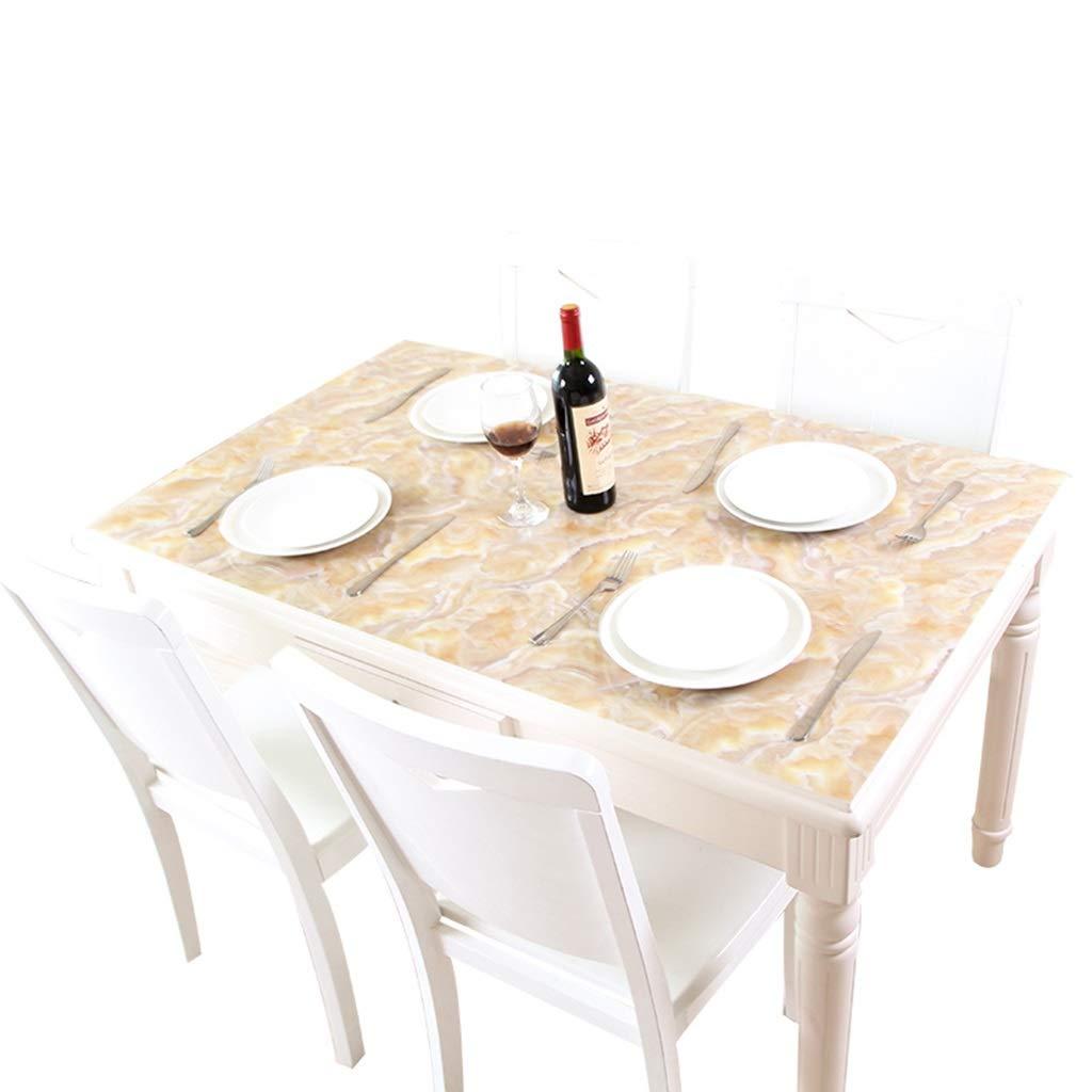 80120cm LLH Nappe de PVC, tapis de table de thé anti-chaud en verre de maison de nappe rectangulaire imperméable et résistant à l'huile de marbre ZHUOB (taille   80  120cm)