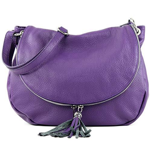 purple T40 Farbe Farbe Präzise Hombro Ital Modamoda Cuero De leder hombro nur Napa 4xZqUZfPgW
