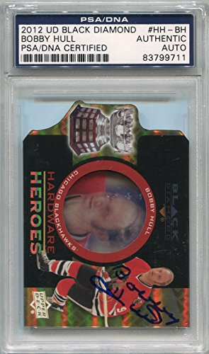 Bobby Hull Chicago Blackhawks PSA/DNA Certified Authentic Autograph - 2012 Upper Deck Black Diamond #HH-BH (Autographed Hockey -