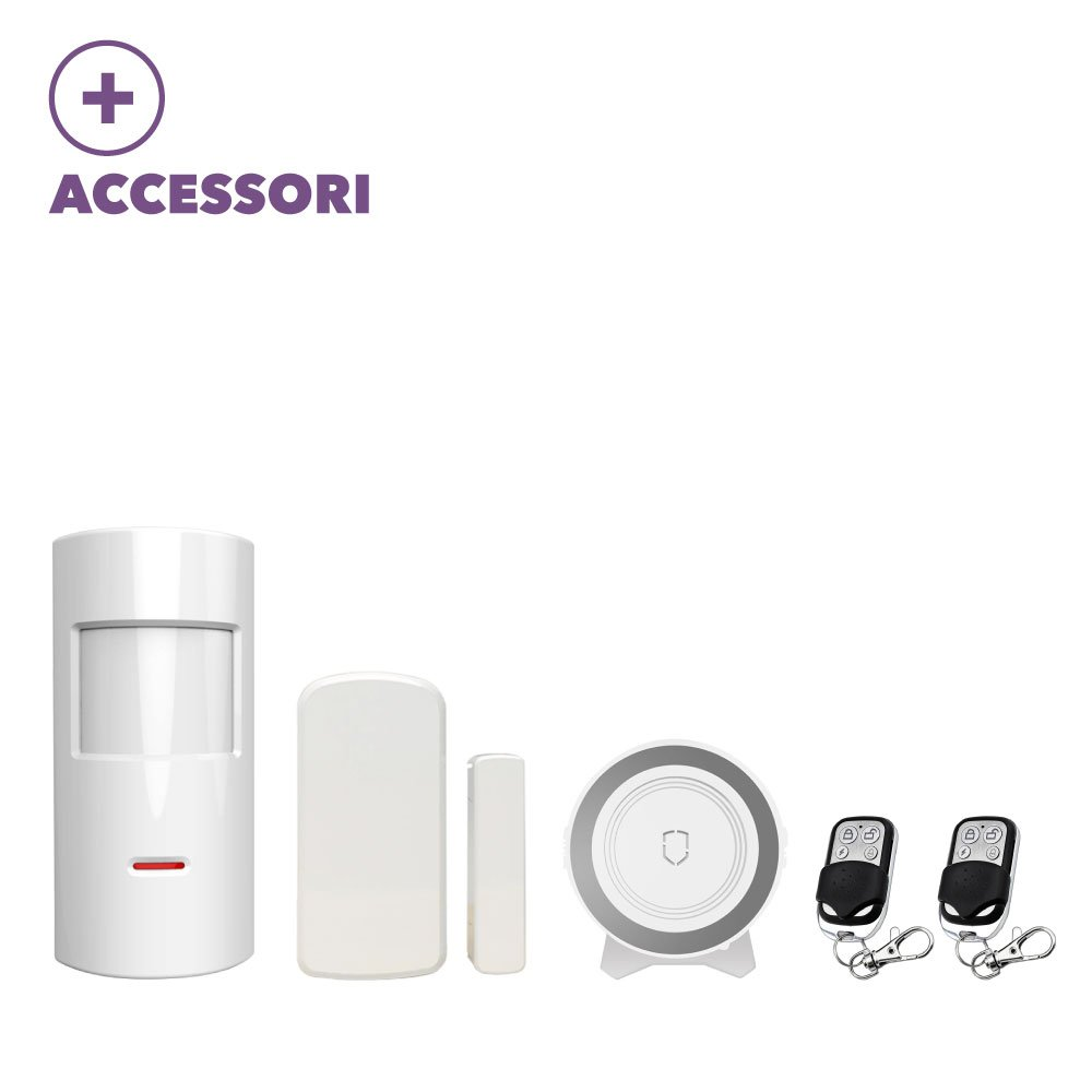 Kit antivol camping-car caravane Camionnette GSM sans fil Touch Screen onroad alarm100
