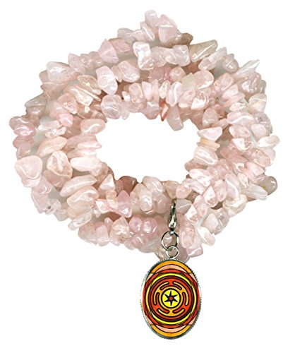 Goddess Hecates Magic Wheel Charm Clip Rose Quartz Gem Wrap Bracelet or (Hecate Costume)