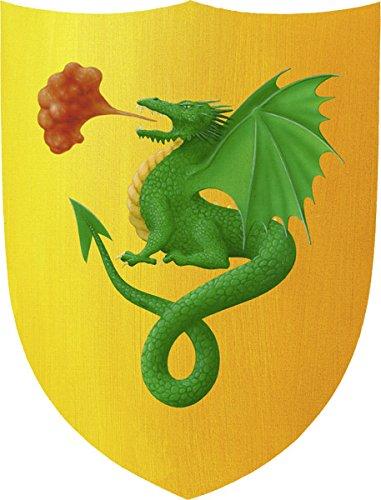 Fantashion F01 - Caballero Escudo, razón: dragón, Verde / Amarillo F 01