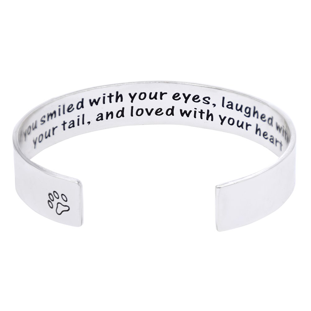 Melix Pet Loss / Pet Memorial Gift Bracelet - ''You loved with your eyes, you smiled with your tails, and love with your heart''