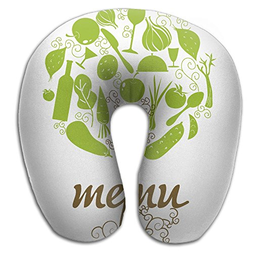Menu Costume (Multifunctional Neck Pillow Menu U-Shaped Soft Pillows Convertible Portable For Reading,Sleeping On Airplanes,Train,Car,and)