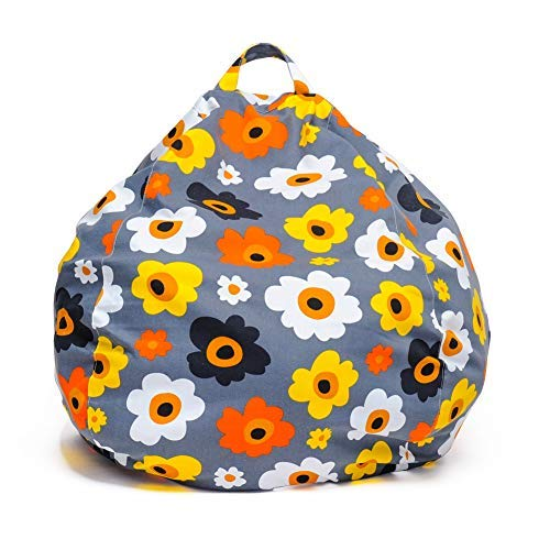 YuppieLife Kid's Stuffed Animal Storage Bean Bag Cover|Large Size at 38