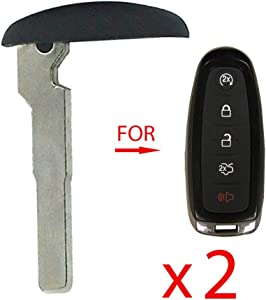 AKS Keys New Blank Emergency Key HS Insert Compatible with Ford (HU101) (2 Pack)