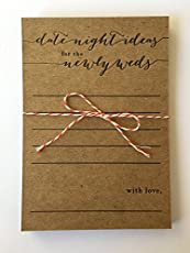 our unique date night ideas for the newlywed cards are a great addition to your engagement party, bridal shower, rehearsal dinner and wedding reception. Leave them on your guest tables or create a special table for your guests to fill out at the leis...