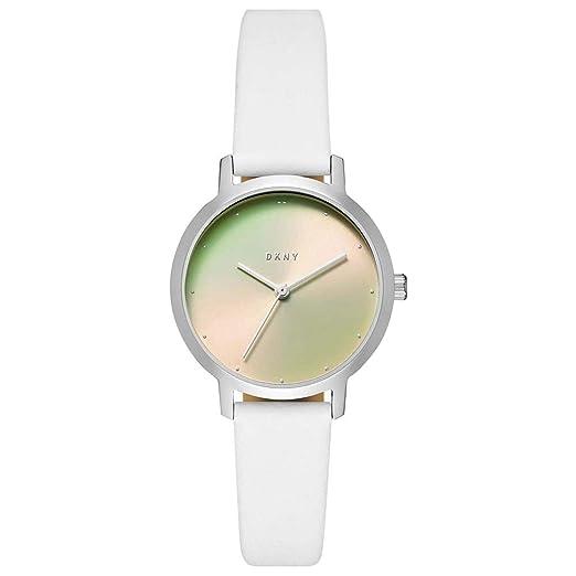 DKNY Reloj Analógico para Mujer de Cuarzo con Correa en Cuero NY2738: Amazon.es: Relojes