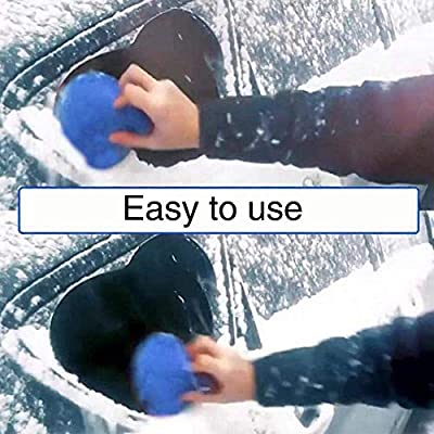 2 Pieces Magic Car Ice Scraper, 2 in 1 Multifunctional A Round Ice Scraper, Cone-Shaped Magic Funnel Car Windshield Snow Removal Tool: Automotive