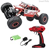 Smart Picks 1:18 Rechargeable 4Wd Rally Car Rock Crawler R/C Monster Truck (Red)