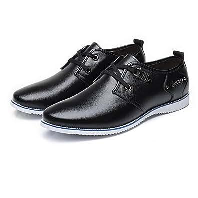 2018 Mens New Arrival Shoes, Men's Formal Business Shoes Matte Genuine Leather Upper Lace Up Breathable Lined Oxfords (Color : Black, Size : 5.5 UK)