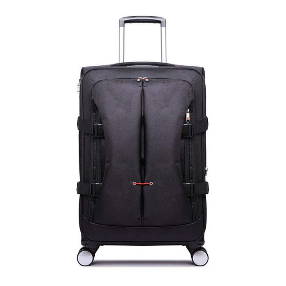 トロリーケースユニバーサルホイールスーツケース男性と女性ビジネス搭乗20 24 28インチ荷物トロリーケース (Color : ブラック, Size : 20 inches)   B07QVNMXP1