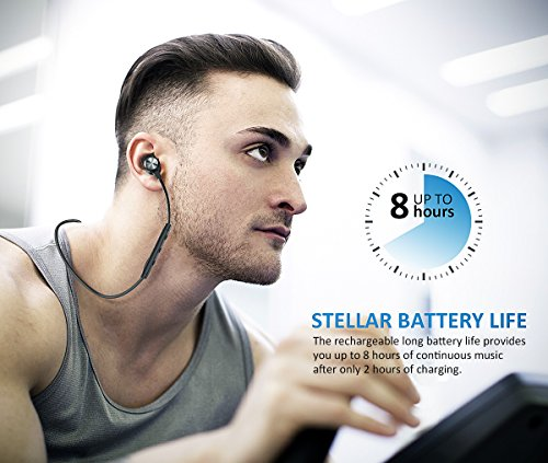Large Product Image of Wireless Headphones, Bluetooth Headphones, ATGOIN Lightweight Bluetooth Earbuds, Sweatproof Stereo Wireless Earbuds Noise Cancelling Wireless Earphones Fit for Gym Sports with Built-in Mic