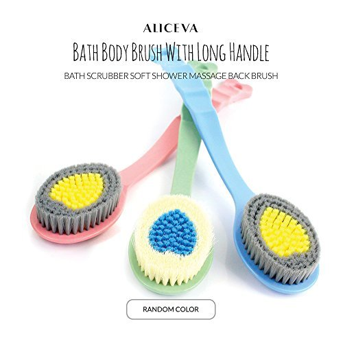 Aliceva Bath Body Brush With Long Handle - Bath Scrubber Soft Shower Massage Back Brush FLYGlobalus
