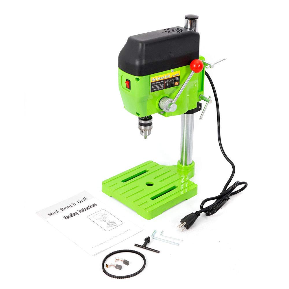 Mini Electric Bench Drill Press Stand Compact Portable Workbench Metal Drilling Repair Tool Expanding Drilling Machine 480W DIY Tool (USA Stock) by SHZICMY (Image #4)