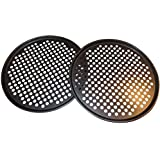 SET OF 2 PIZZA PANS with holes 13 inch - Professional restaurant type pizza at home grill barbecue