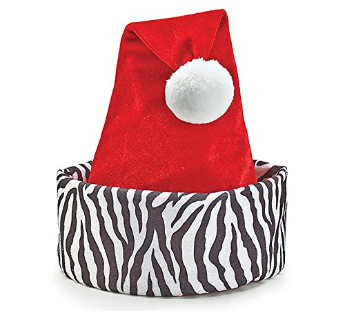 Zebra Print Santa Christmas -