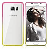Galaxy Note 5 Case, MagicMobile Ultra Slim Transparent Crystal [Clear] Case for Samsung Galaxy Note 5 [Anti-Scratch] Flexible TPU Layer Color Bumper Frame [Shock-Resistant] Back Cover (Pink - Yellow)