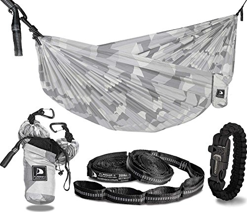 Flagship-X Urban Camo Double 2 Person Camping Hammock Packable for Backpacking - Siberian Camouflage