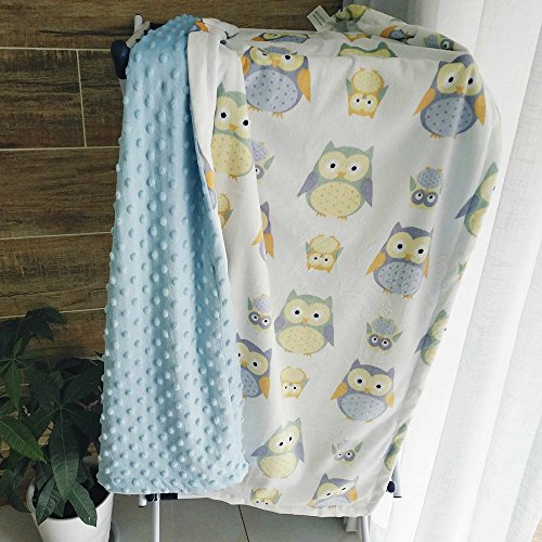 Spring fever Baby Minky Cover Double Layer Raised Dot Newborn and toddler Soft Throw 20