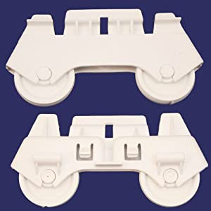 Whirlpool W3376961 Dishwasher Dishrack Roller Assembly, Lower Genuine Original Equipment Manufacturer (OEM) Part