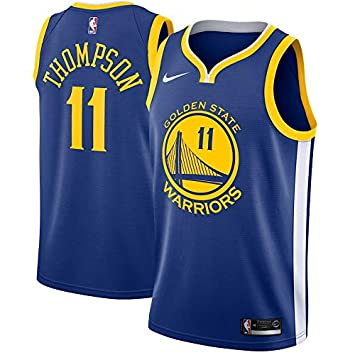 Jersey Outlet N-B-A GS Klay-Thompson 11 Swingman Men Jersey (Azul, L)