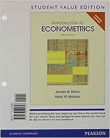 Introduction to econometrics stock watson