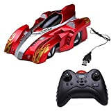 Wall Climber Climbing Car, OWIKAR Infrared Remote Control Racer Vehicle Gravity Mini USB Charging RC Stunt Car Toys for Kids Children Gift Driving Car