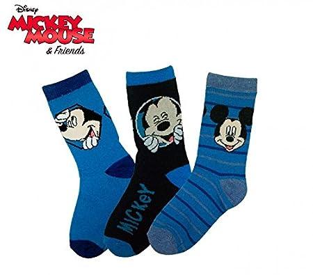 Pack 3 pares de calcetines DISNEY con varios estampados y personajes para niños mws2075 (MICKEY MOUSE - TALLA 27-30): Amazon.es: Hogar