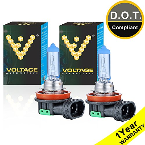 Voltage Automotive H11 Headlight Bulb Polarize Super White Replacement (Pair) - Professional Upgrade Head Light Bulb