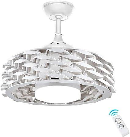 Ventilador de Techo con Luz Lámpara 55cm Sin Hojas Invisible ...