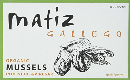 Matiz Mussels in Olive Oil, Organic, 4.2 Ounce (Pack of 2)
