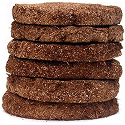 Navya Agriallied Shivapriya Havan Kande/Cow Dung Cake/Uple/Thepdi/130 mm Round Shape - Set of 32 Puja Articles at amazon