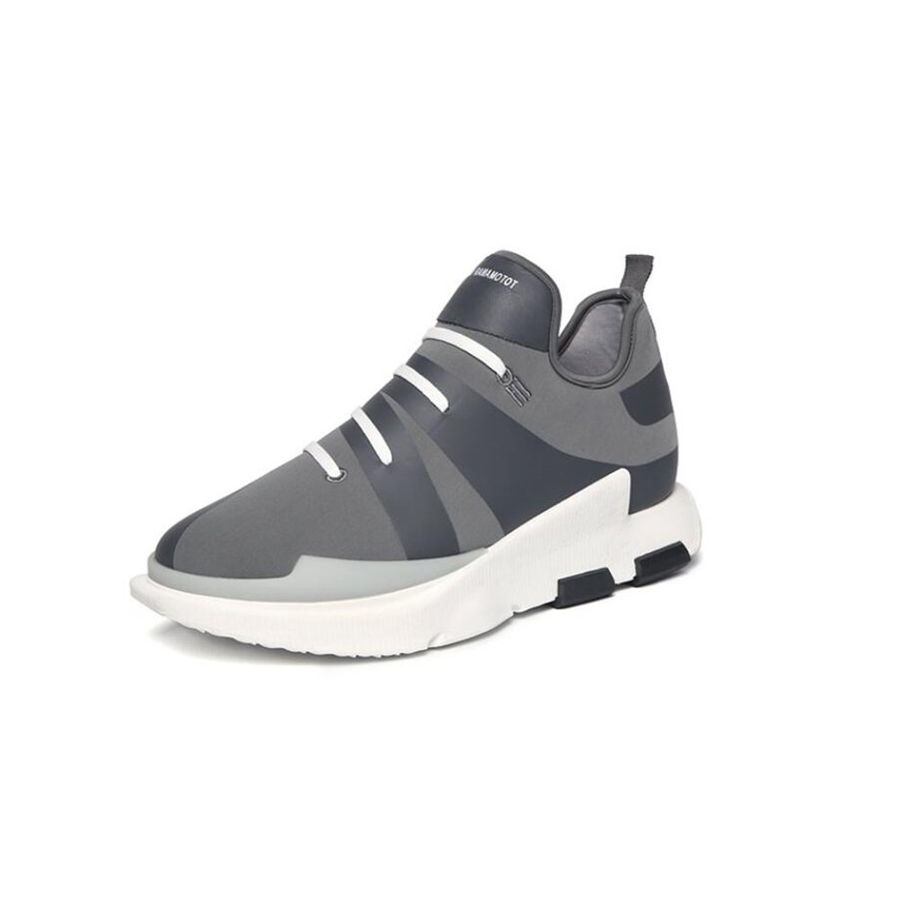 HUAN Zapatos casuales Zapatos casuales para hombre Zapatillas de deporte Zapatos de holgazán Zapatos de aumento de altura 39 EU Gray