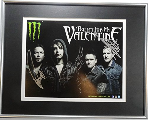 Signed Bullet For My Valentine Autographed Photo Framed & Matted w/Pics