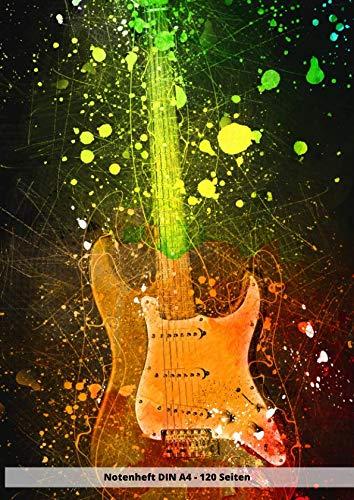 Notenheft DIN A4 - 120 Seiten: Soft Cover - Leeres Heft zum ausfüllen für eigene Noten E Gitarre Gitarren Bass (German Edition)