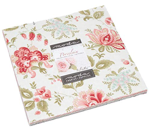 Porcelain Layer Cake, 42-10 inch Precut Fabric Quilt Squares by 3 Sisters by MODA (Image #2)