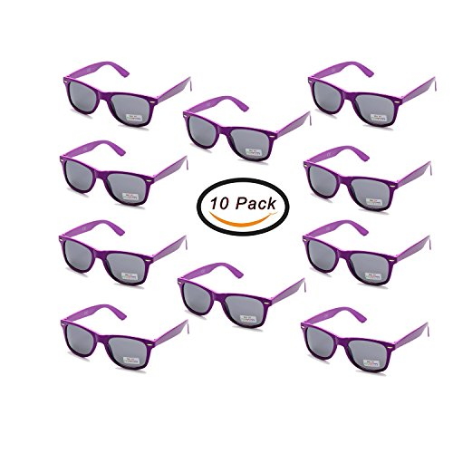 (Wholesale 80'S Purple UV Coating Party Sunglasses for Adults Kids 10 Pack (Purple))