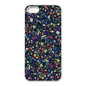 iPhone 5 5s Cell Phone Case White Icon Set Vqeoe