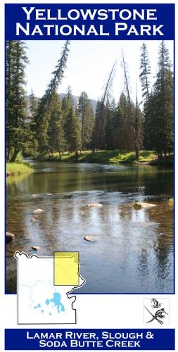 Lamar/Slough Creek/Soda Butte (YNP) 11x17 Fly Fishing River Map