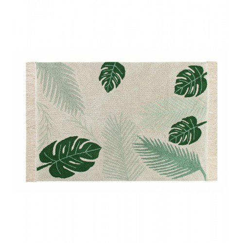 Lorena Canals Tropical Washable Rug, Cotton, Green, 140 x 200 x 30 cm C-TROP-GREEN