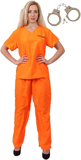 I LOVE FANCY DRESS LTD Disfraz DE PRESO CONVICTO Naranja para ...