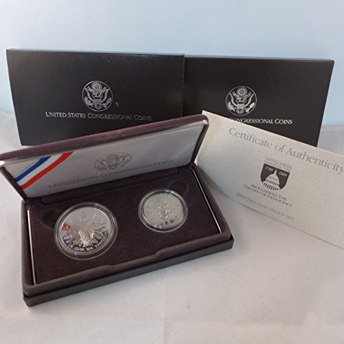 - 1989 S US Congressional Coins 2 Coin Set Proof
