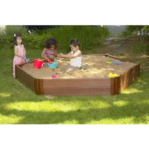 Frame-It-All 8 x 7-ft. Hexagon Sandbox by Frame It All