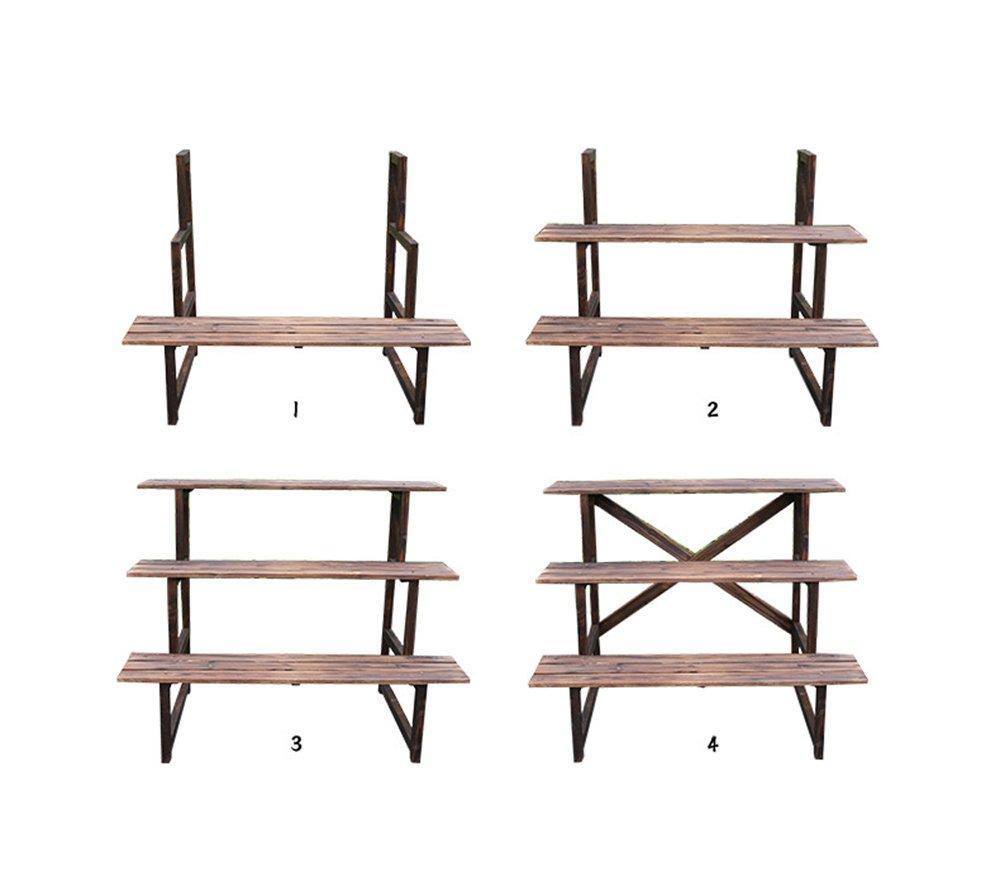 WEBO Home- Multilayer Montage Konservierungsmittel Boden Konservierungsmittel Montage Holz Blume Regal Holz Wohnzimmer -Regal (größe : 75  60  76cm) b3613f