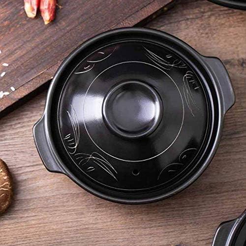 UWY Casserole Pot à ragoût en Terre Cuite Casserole en céramique - Glaçure Lisse pour Un Nettoyage Facile, poêle antiadhésive, capacité inférieure antidérapante 1,35 L