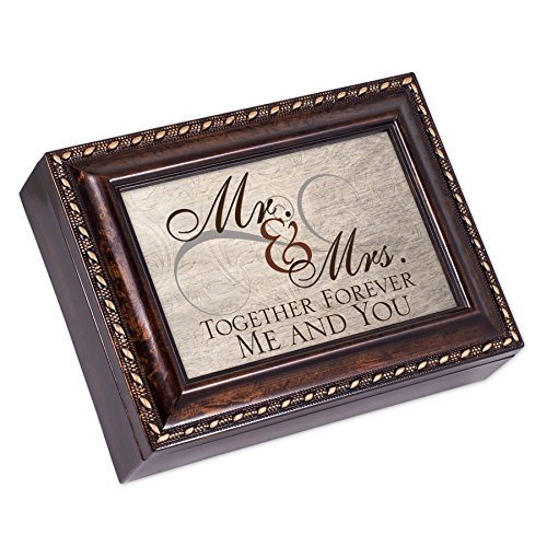 - Mr. & Mrs. Together Forever Burlwood Finish Jewelry Music Box Plays Canon in D