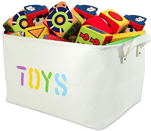 "XXLARGE Canvas ""TOYS"" Storage Bins 22""Long 13"" Deep. Storage"