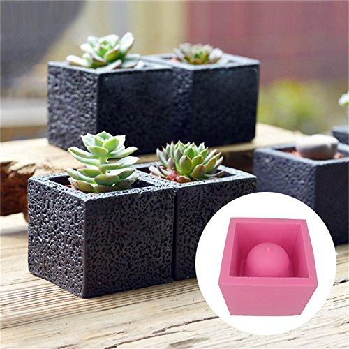 Amazon.com : DIY Square Cement Flower Pot Silicone Mold Crafts Succulent Plants Concrete Planter Vase Molds for Home Decor : Garden & Outdoor
